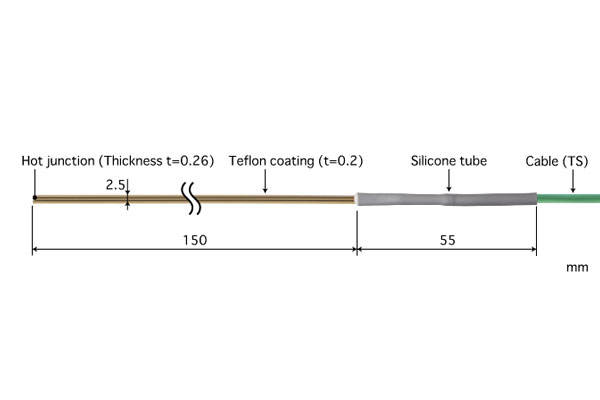 K型热电偶:ST-42K-015-TS1-ANP