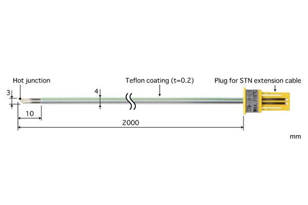E型热电偶:STN-11E-200