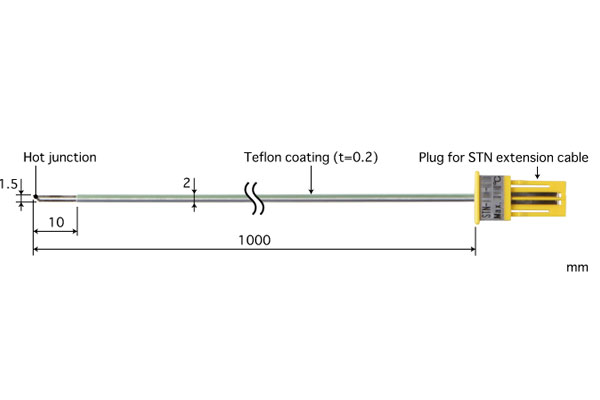 E型热电偶:STN-31E-100