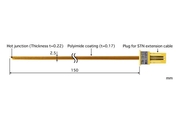 K型热电偶:STN-34K-015