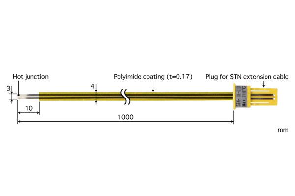 E型热电偶:STN-23E-100