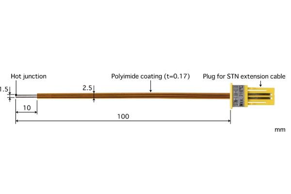K型热电偶:STN-43K-010
